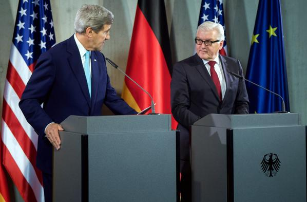 .@JohnKerry: Russia's aggression in Ukraine needs to end. That's why we've worked with Germany.