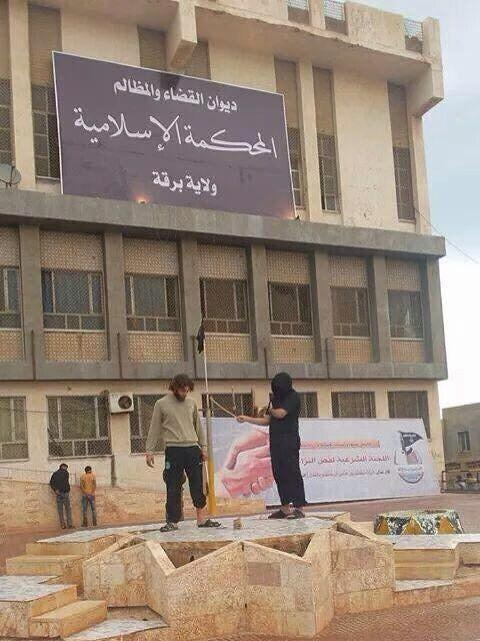 An 'Islamic court' was established in Derna Libya. Today man lashed for 'drinking alcohol'