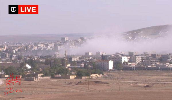 Another strike in Kobani