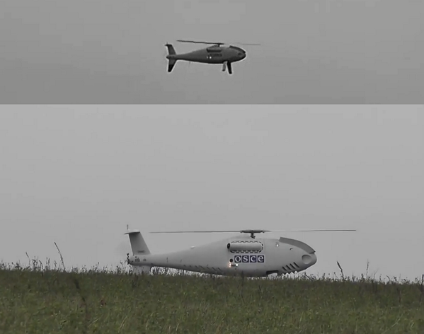 The first @OSCE_SMM drone flys east of  Mariupol