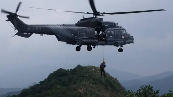 Spectacular helicopter Lion Rock banner operation upstaging Tung Chee-wah snore-fest