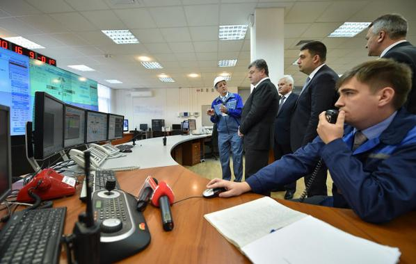 Poroshenko took part in the simultaneous launch of two units of the Dniester Power Plant