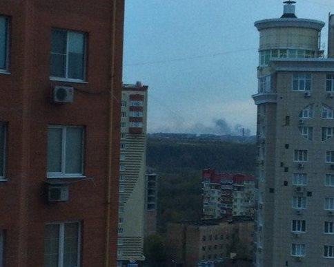 The factory of chemical products is burning in Donetsk