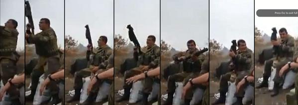 Russian army brand new single shot 43 mm grenade launcher spotted in hands of Putin's terrorists in Horlivka