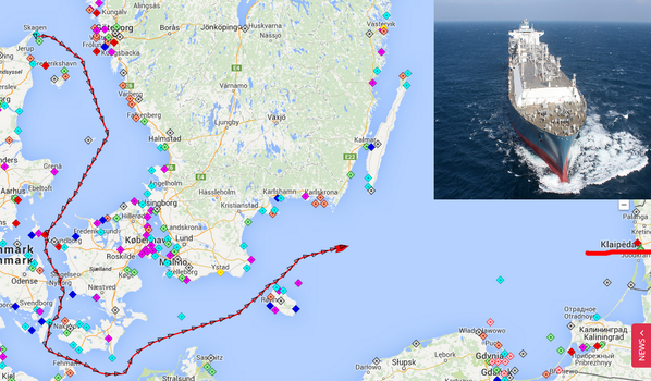 Symbol of energy self-rule of Lithuania - LNG tanker Independence -  has embarked on the final leg of its journey