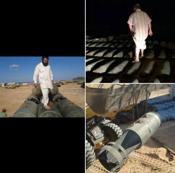 Barrel bombs at port of Misrata Libya