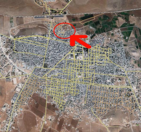 Kobane: IS sources say today they advanced towards border crossing nearly cutting it off.