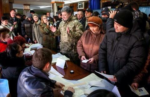 President Poroshenko at the polling station in Kramatorsk, Donetsk region