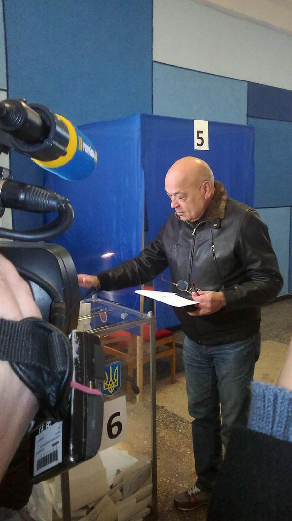 Head of Luhansk region Moskal voted in Severodonetsk