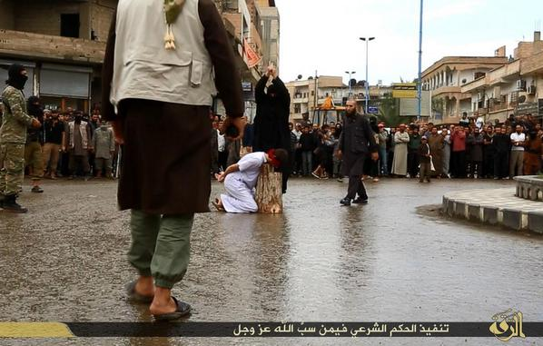 In ISIS capital Raqqa, 3 men were beheaded by sword 2day for cursing