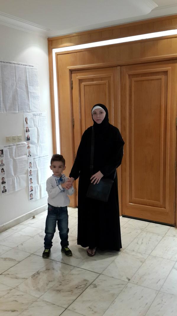 In Saudi Arabia Ukrainians go to vote