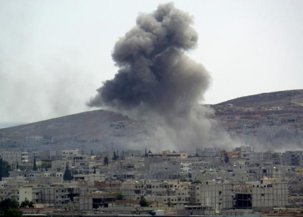 US airstrike against ISIL supply routes outside Kobane