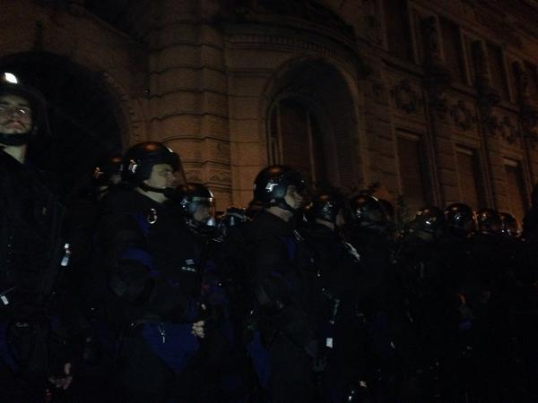 Hundreds chanting Russians go home! in Budapest during protests against planned internet tax