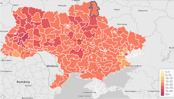 Turnout map by regions