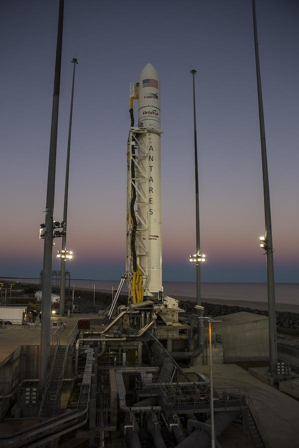 Rocket systems, the Cygnus spacecraft, Wallops range and weather are currently go for launch.