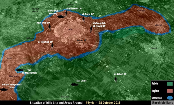 Situation of Idlib City - Rebels stormed the southern parts of the city this morning for few hour