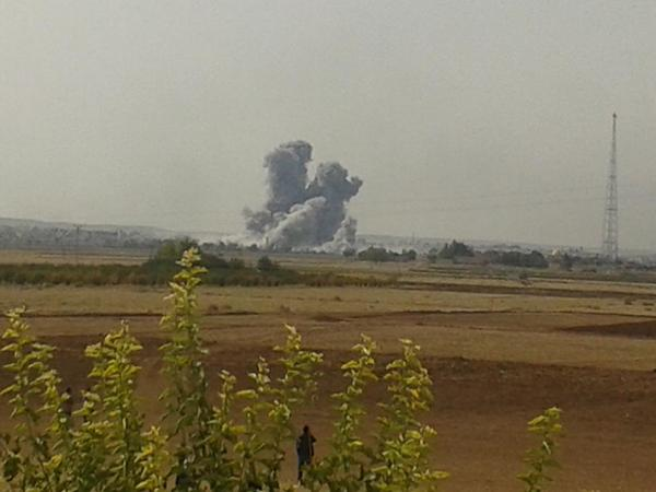 Coalition aircraft striked eastern front of Kobane