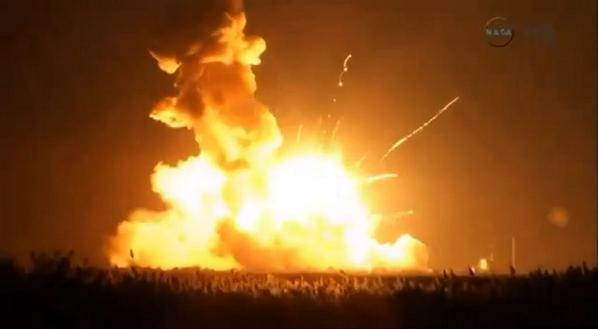 U.S. rocket carrying Cygnus cargo spacecraft explodes seconds after launch; no injury reported