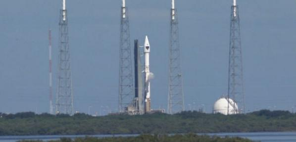 Atlas 5 rocket carrying GPS satellite launches from Cape Canaveral, Fla.