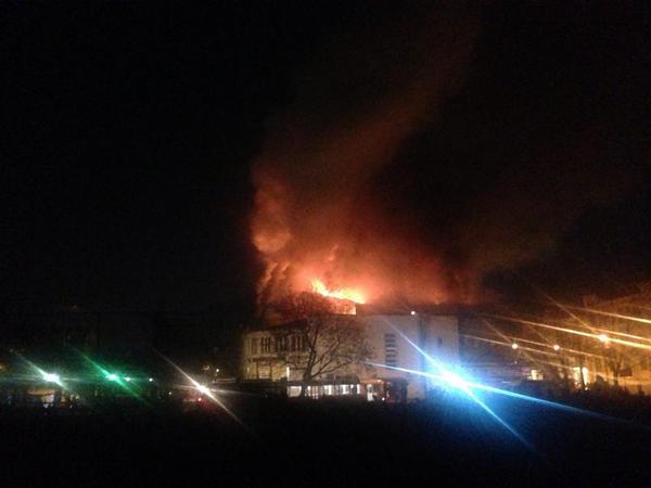 Fire in the cinema Zhovten in Kyiv