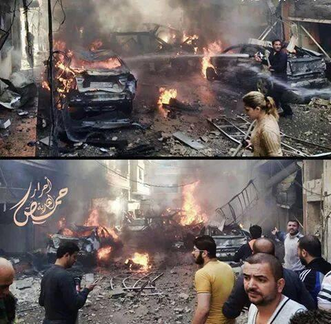 Death toll of the car bombing in the Zahra district in Homs reaches 22, over 30 wounded. Syria