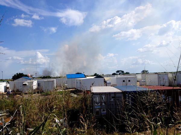 Smoke over Rubkona after today's fighting