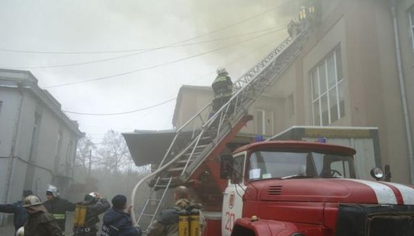 In Kherson burned confectionery factory