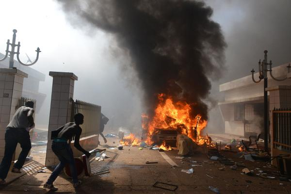 Burkina Faso: Protestors storm Parliament and set it on fire: