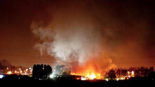 Fire crew: Blaze at fireworks supplier in Stafford is 'escalating'