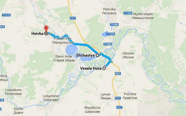 Militants attack Shchastya frm Vesela Hora, Heivka. Aim capturing Luhansk power plant