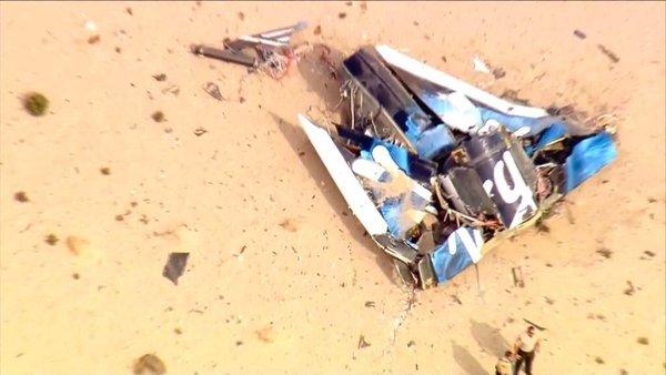 First responders at scene of Virgin Galatic crash