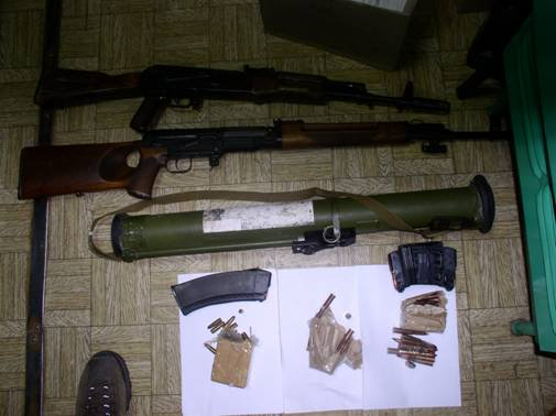 The SBU detained sabouters of DNR with arsenal of weapons in Kostyantynivka