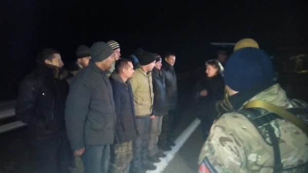 Exchange of captured soldiers near Donetsk