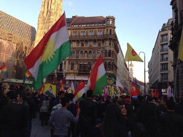 Vienna Austria in solidarity with Kobane