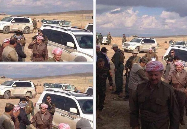 Masoud Barzani visited Zumar and met with Peshmarga .
