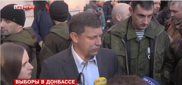 Leader of DNR Alexander Zakharchenko voted at polling station