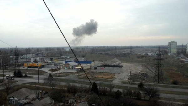 Heavy explosion at checkpoint in Mariupol