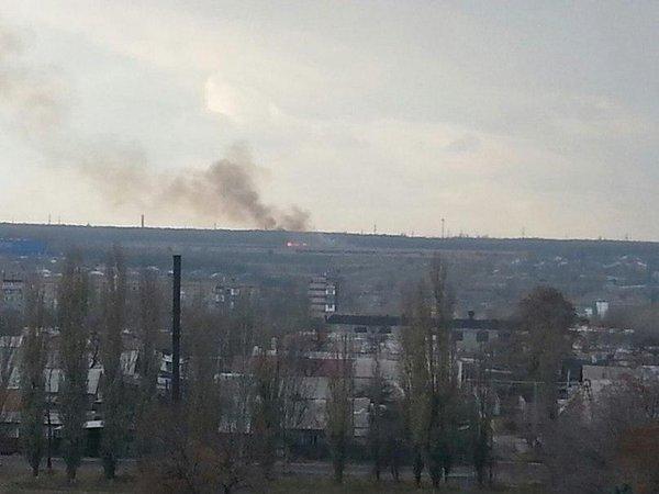 Makiivka. Something is burning