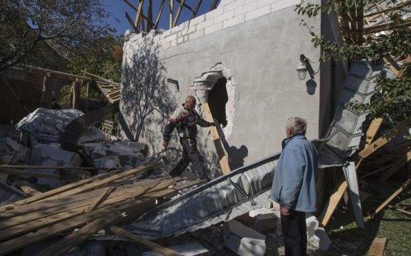 Militants shelled Girske with GRAD MLRS