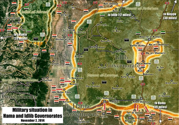 Military situation in Hama and Idlib Governorates.