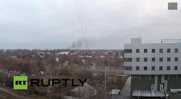 Smoke rises from Donetsk following resumption of heavy shellfire Ukraine