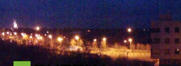 Flares now over Donetsk airport next to heavy shelling