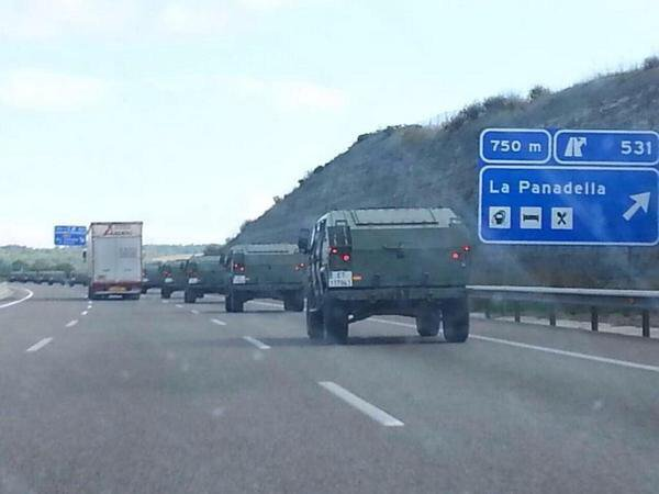 Spanish Army deploying to Catalan, Spain today ahead of secession referendum.