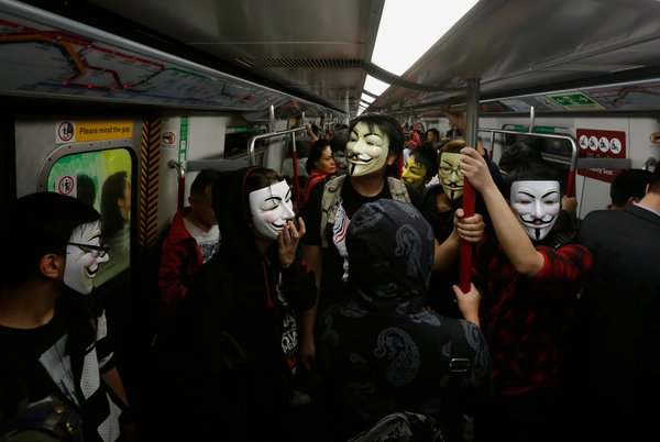 MillionMaskMarch in Hong Kong