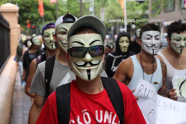 Anonymous march through Sydney