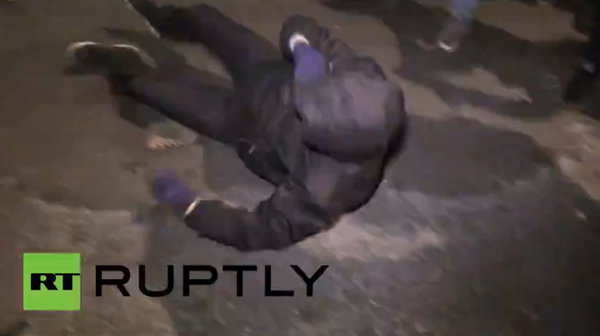 Scuffles between police and London MillionMaskMarch protestors