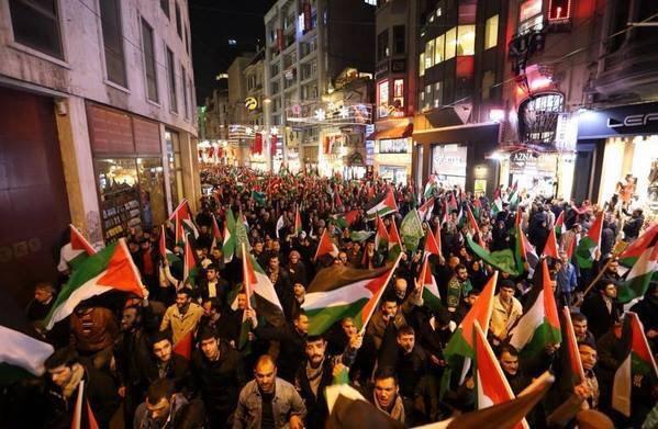 Istanbul earlier tonight Rally HandsOffAlAqsa