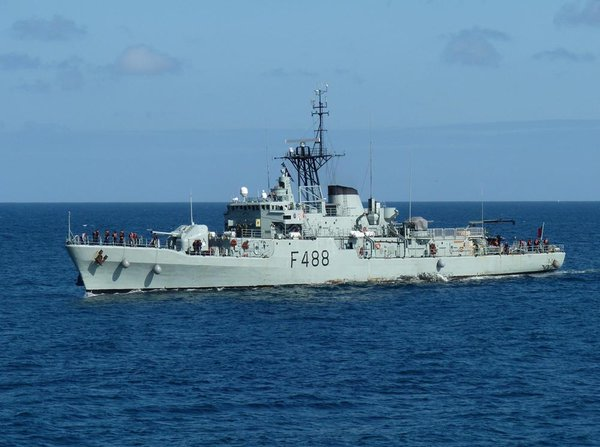 The Portuguese Navy escorted a Russian oceanographic ship out of its waters Wednesday