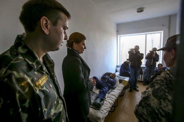 Marina Poroshenko visited two military hospitals in the Zaporizhie region