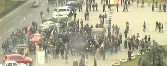 Communists' rally in Dnipropetrovs'k with clashes